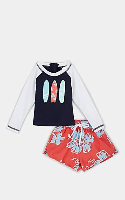Snapper Rock Infants' Floral-Surfboard Rashguard & Shorts