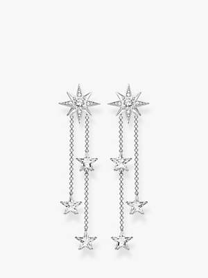Thomas Sabo THOMAS SABO Magic Stars Double Chain Drop Earrings, Silver