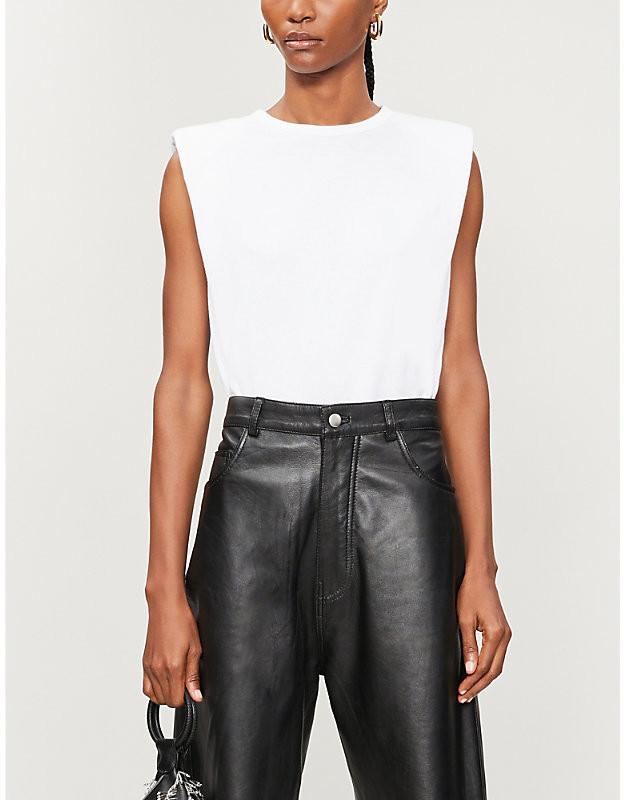 Belfort sleeveless cotton-jersey T-shirt