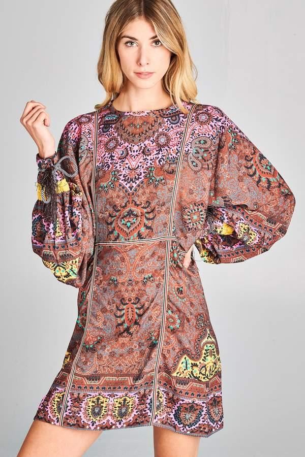 Racine Love-Boho Print Dress
