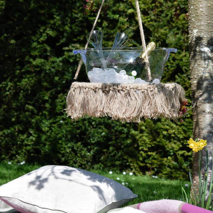 Ella James Indoor / Outdoor Macrame Hanging Table