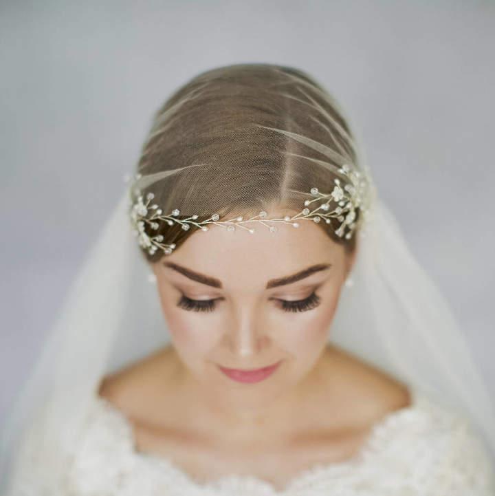 Debbie Carlisle Boho Flower Wedding Hairvine Coralie