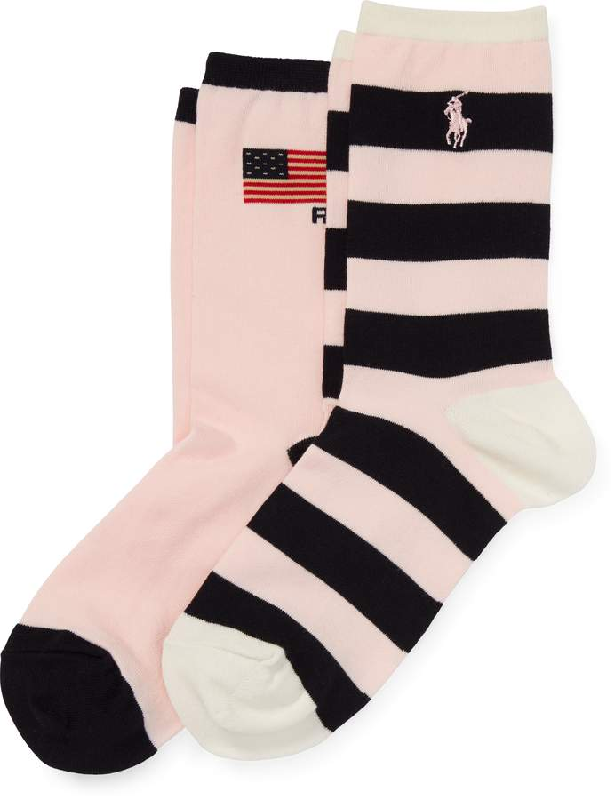 Ralph Lauren Pink Pony Sock 2-Pack