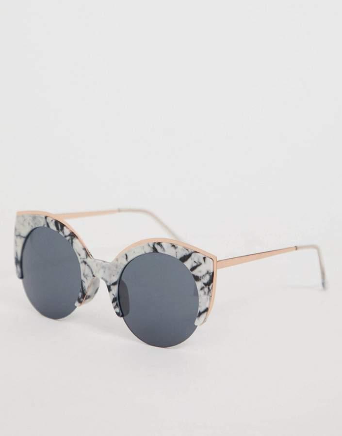 Skinnydip Skinny Dip Blake Marble Sunglasses