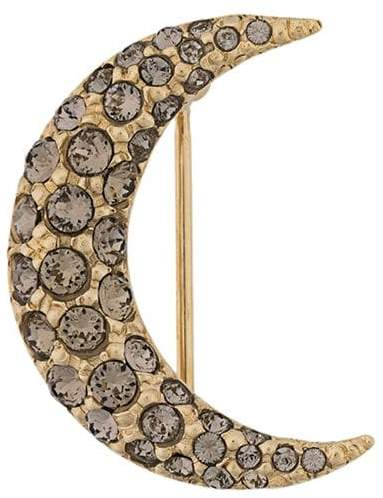 Isabel Marant embellished crescent moon brooch
