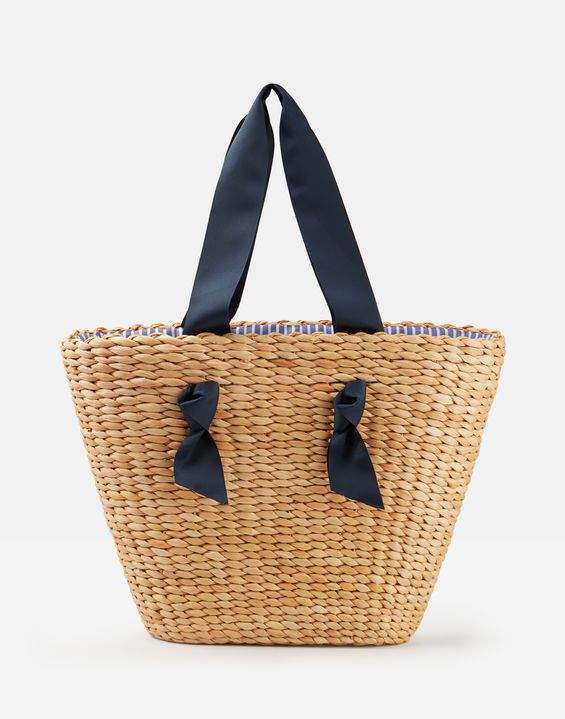 Joules Albury Woven Straw Large Shopper