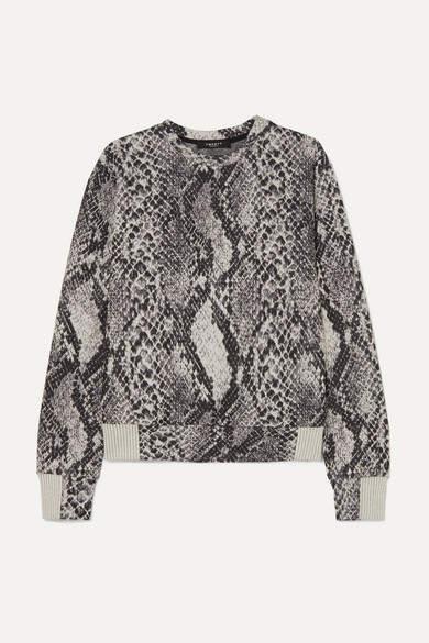 Twenty Montréal TWENTY Montreal - Strike Cotton-blend Snake-jacquard Sweatshirt - Snake print
