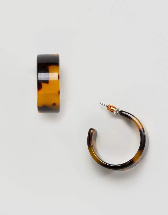 Asos Design ASOS DESIGN Thick Tortoiseshell Hoop Earrings-Multi