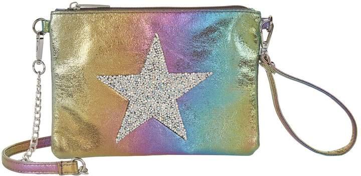 Bari Lynn Rainbow Star Clutch Bag