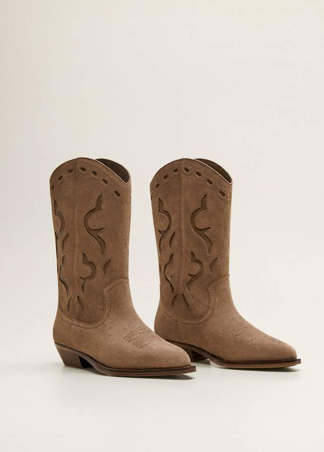 Cowboy leather boots