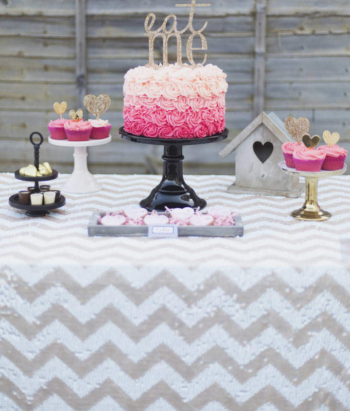 The Sweet Party Shop Chevron Sequin Tablecloth