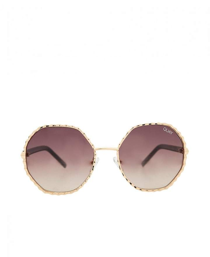 Quay Sunglasses Breeze In Sunglasses Colour: GOLD AND BROWN, Size: One