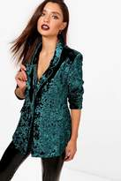 Boutique Taja Crushed Velvet Tailored Blazer
