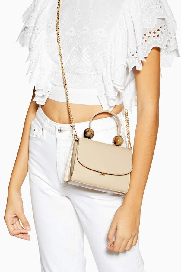 Topshop Womens Mason Tortoiseshell Ball Mini Bag - White