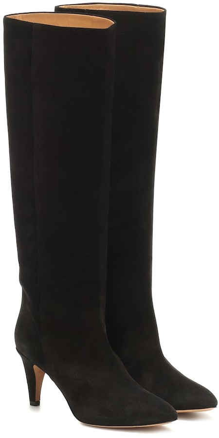 Latsen suede knee-high boots