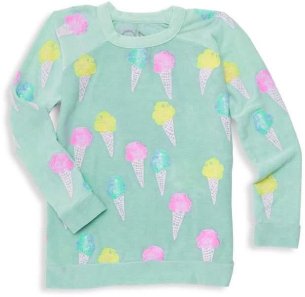 Chaser Little Girl's Ice Cream Sweater