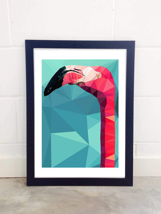 EAST END PRINTS Flamingo Head By Studio Cockatoo