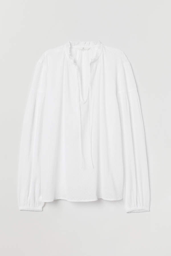 H&M Plumeti cotton blouse