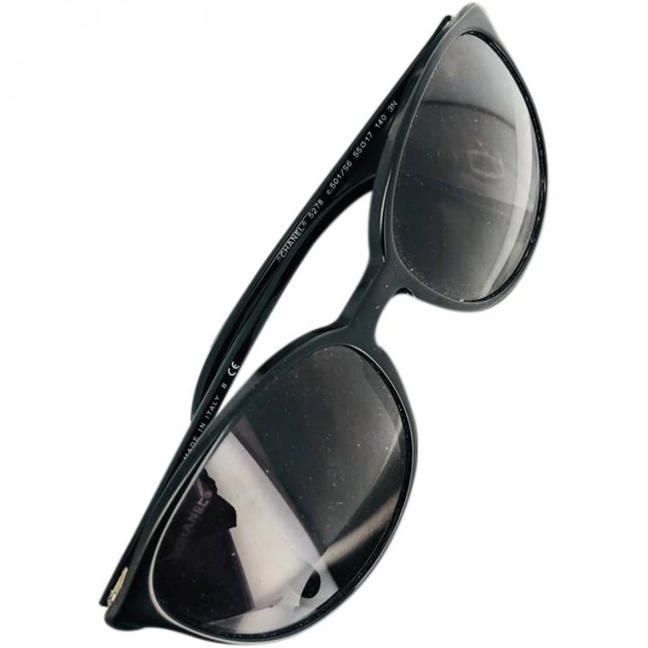 Chanel Black Plastic Sunglasses