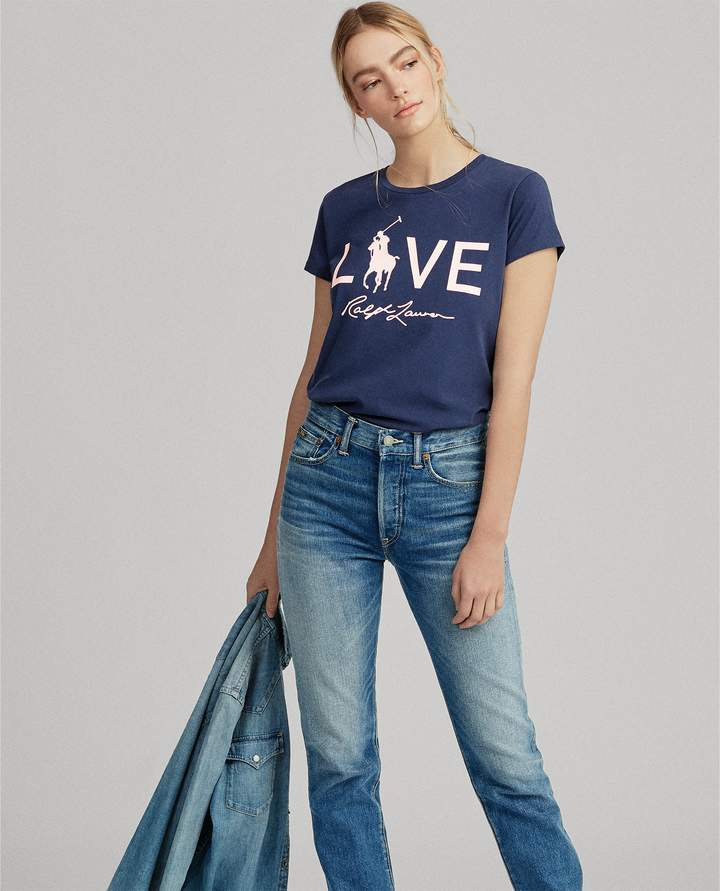 Ralph Lauren Pink Pony Love Graphic T-Shirt