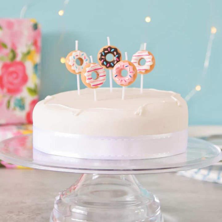Peach Blossom Doughnut Birthday Cake Party Candles