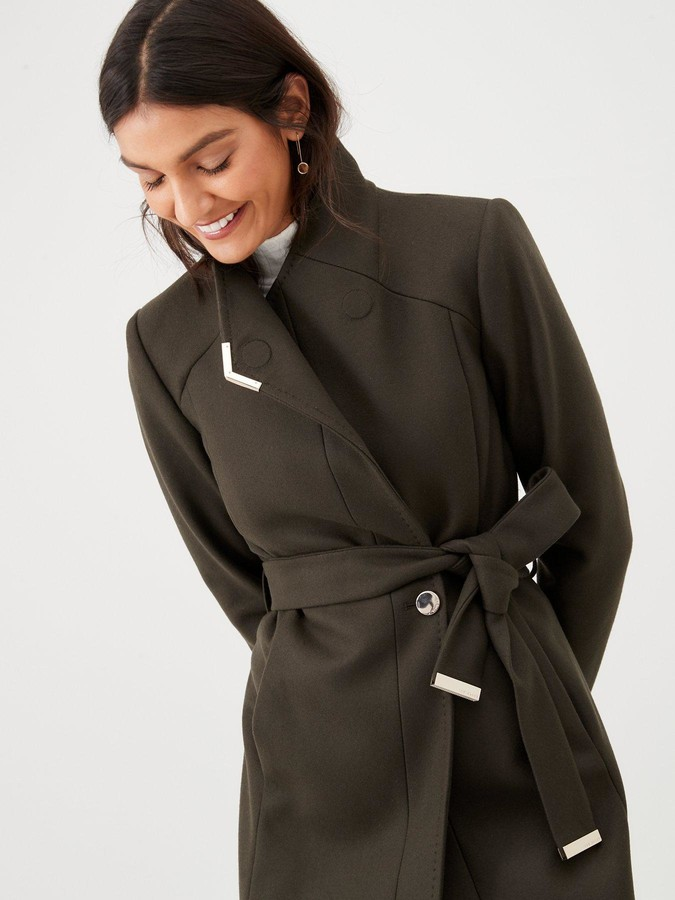 Ted Baker Ellgenc D-Ring Wrap Coat - Green