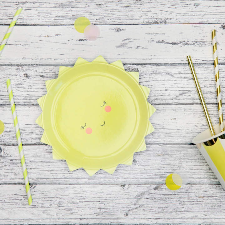 Postbox Party Baby Shower Sun Paper Party Plates