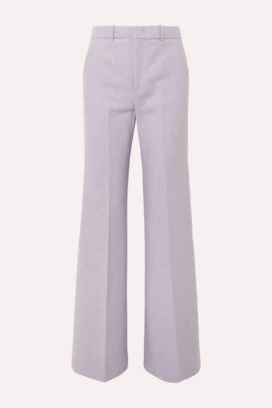 Joseph - Jess Herringbone Wool-blend Bootcut Pants - Lilac