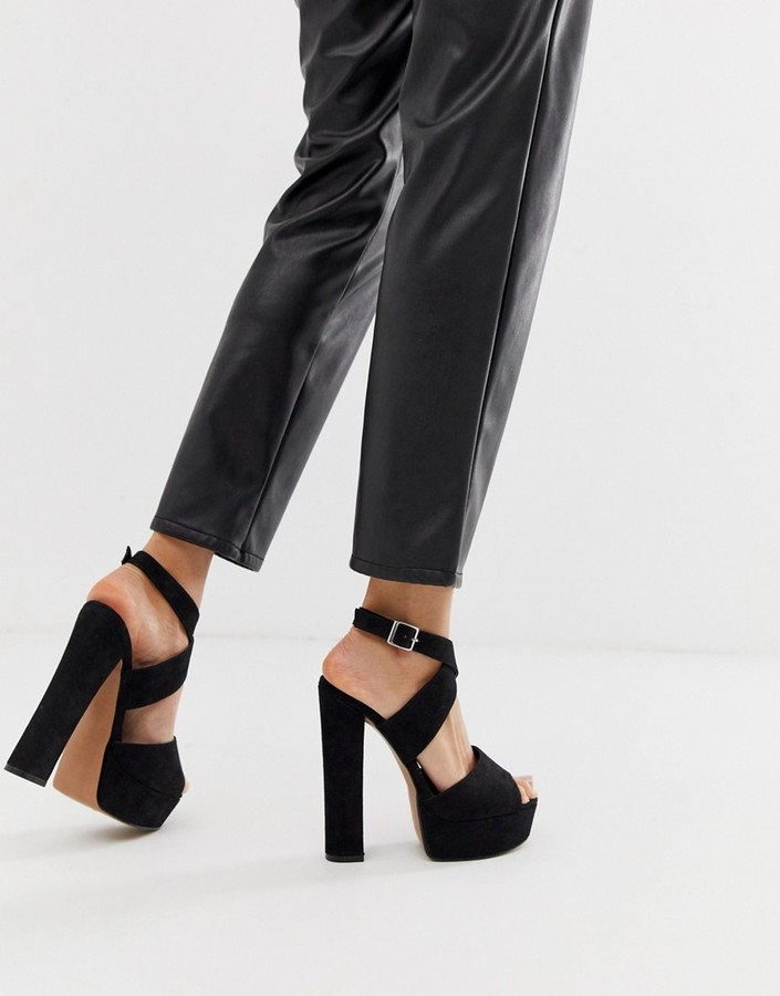 ASOS DESIGN Hutchinson platform block heeled sandals