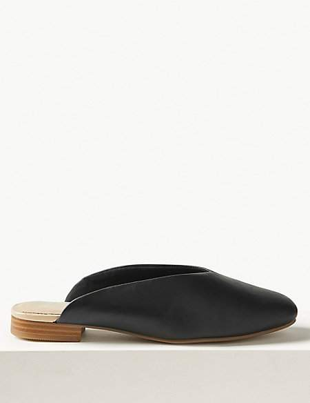 M&S Collection Leather Mule Shoes
