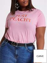 RI Plus Just Peachy T-shirt - Pink