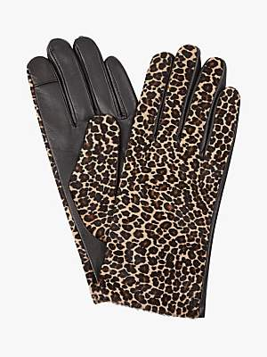 Hobbs Emma Animal Leather Gloves, Mini Leopard