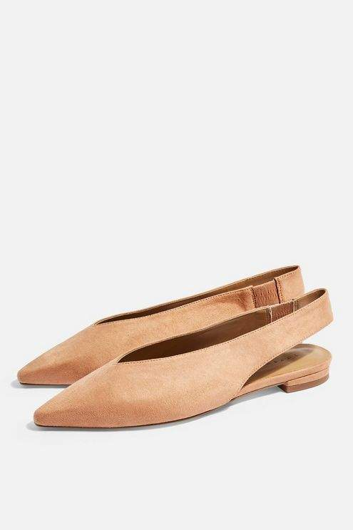 Topshop Womens Abella Structured Shoes - Tan