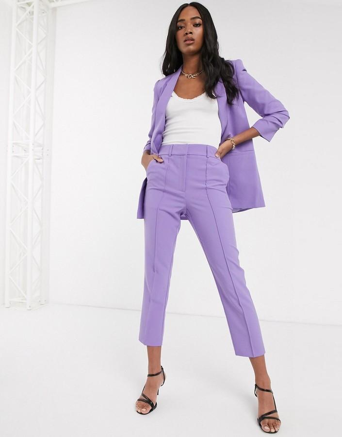 ASOS DESIGN tailored smart mix & match cigarette suit trousers