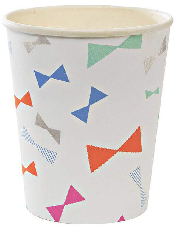 Postbox Party Colourful Print Paper Party Cups