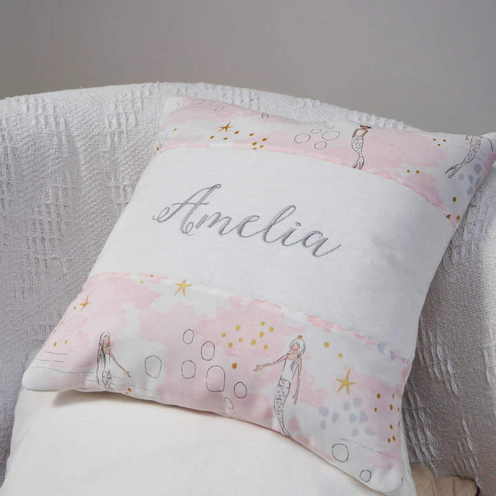 Tuppenny House Designs Mermaid Name Cushion