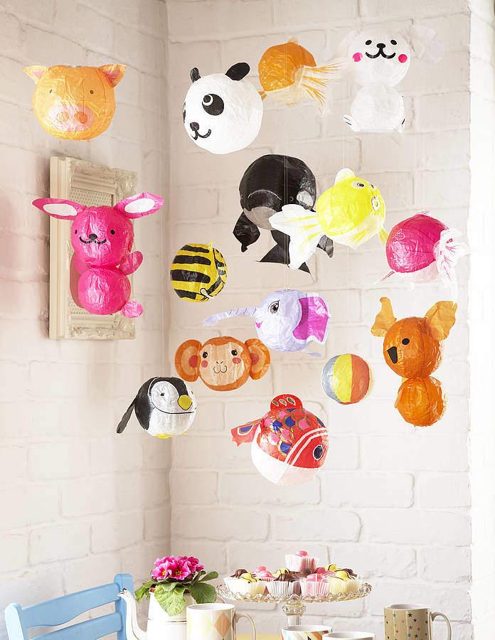 Petra boase Ltd Set Of 10 Japanese Paper Balloons