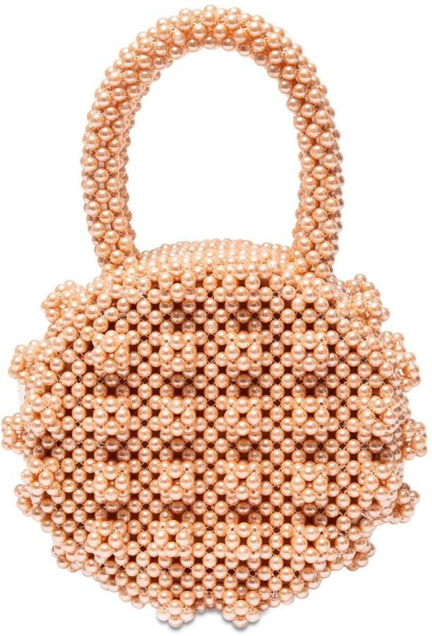 Shrimps Selena Round Beaded Top Handle Bag