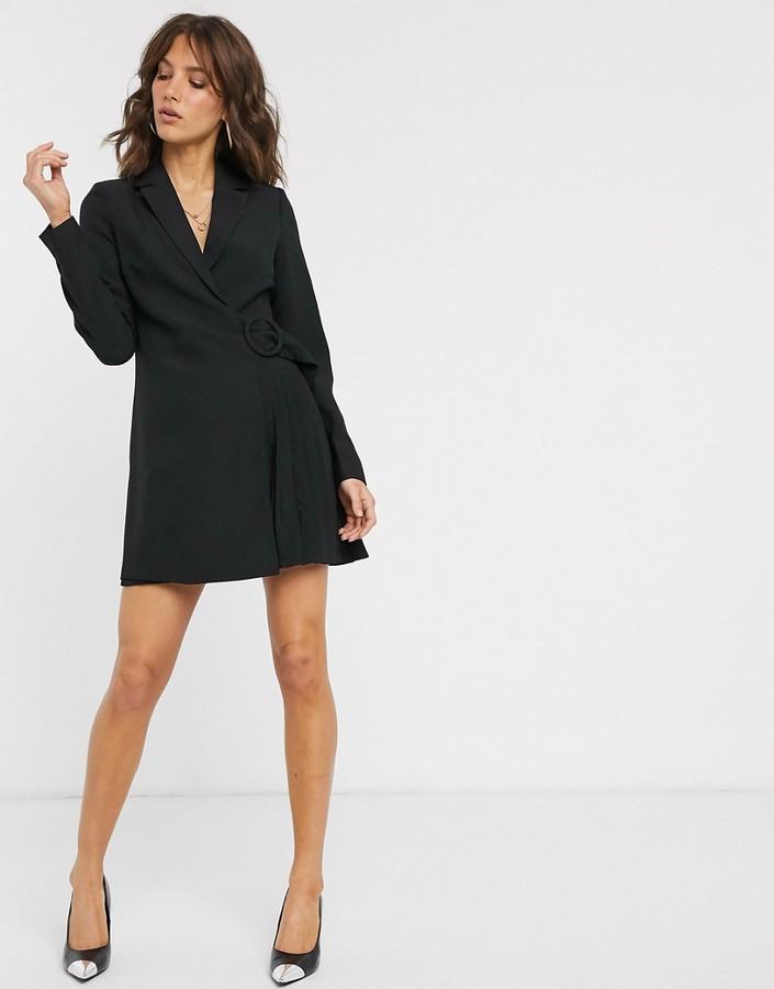 Fashion Union wrap blazer mini dress