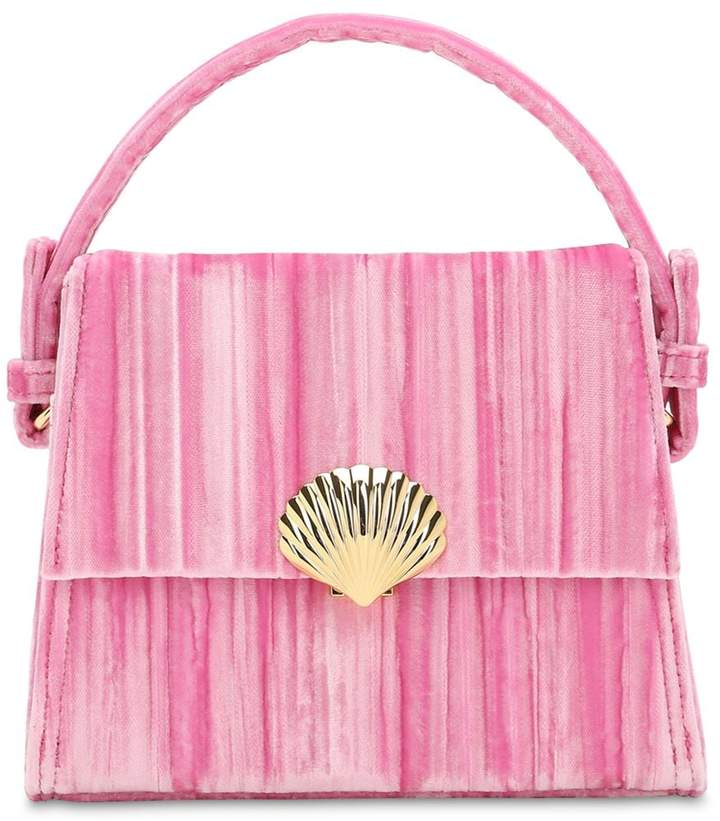 Rixo Embellished Velvet Trapeze Bag
