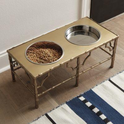 Bamboo Pet Food Stand - Ballard Designs