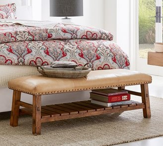 pottery barn storage bench shop the