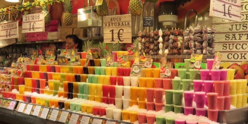 巴塞隆納最大菜市場波格利亞Boqueria觀光第一