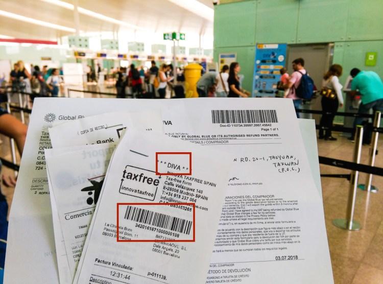 歐洲退稅西班牙巴塞隆納機場怎麼退稅 市區退稅流程