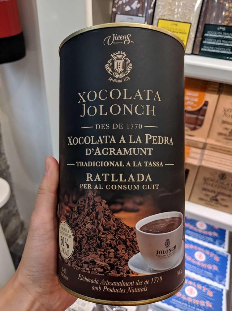 西班牙伴手禮巧克力Jolonch濃稠巧克力屑的百年老店