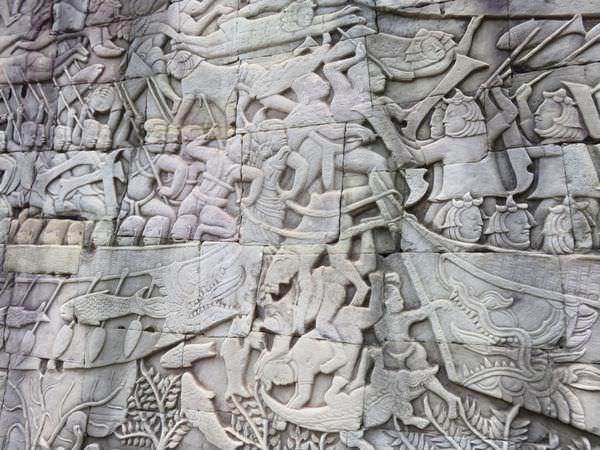 吳與倫比。柬埔寨。巴戎寺 Bayon 高棉人的宇宙觀
