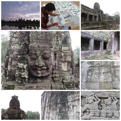 吳與倫比。柬埔寨。巴戎寺 Bayon 逃不出微笑的法眼啊