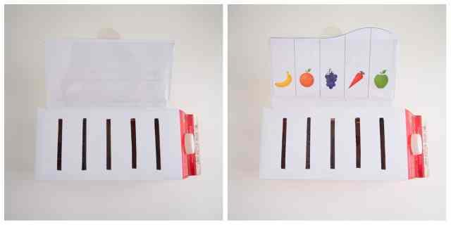風琴牛奶盒放卡片前後