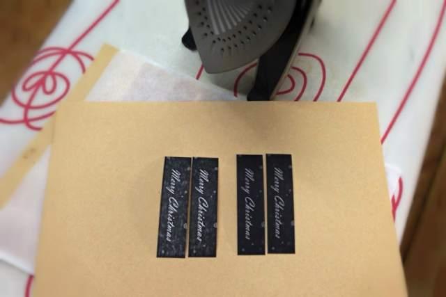 自製蠟紙包裝標籤 - 可水洗牛皮紙上蠟前後