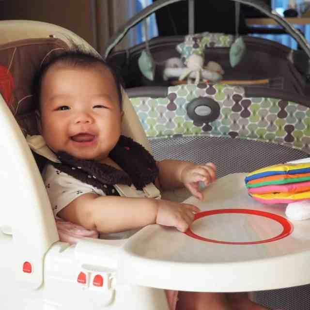 寶寶戴上手作安全帶套